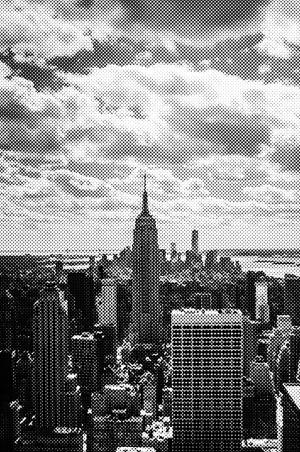 Beispielhafte Rasterung des Empire State Buildings in New York.