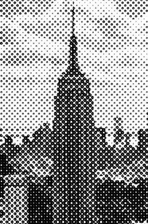 Beispielhafte Rasterung des Empire State Buidlings in New York.